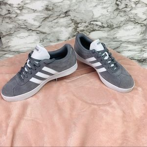 adidas Shoes - ADIDAS Courtset sneakers grey side white stripes